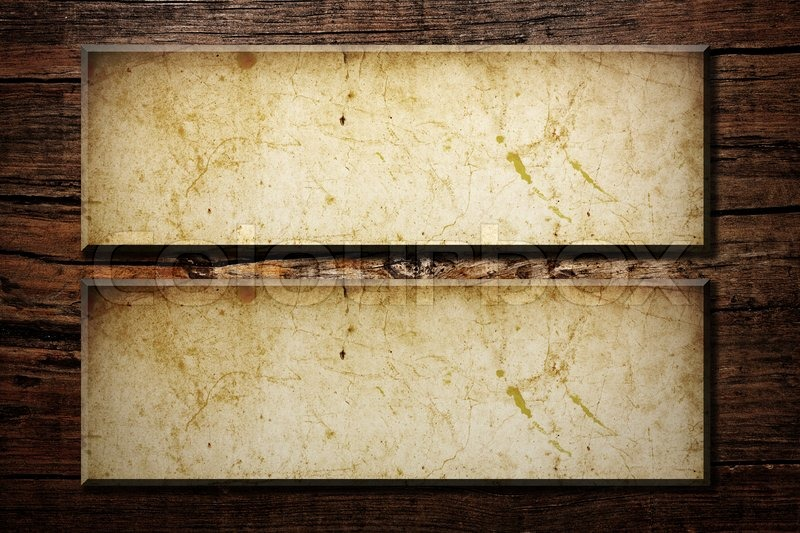Paper frames on a wood background | Stock Photo | Colourbox
