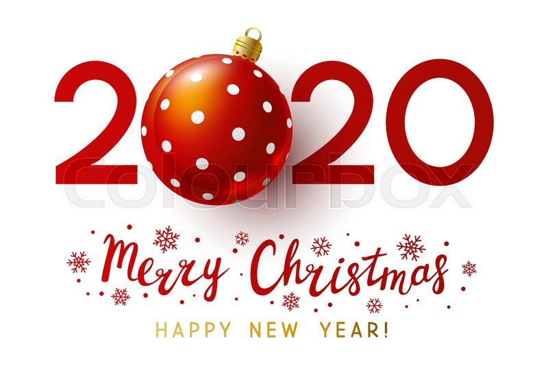 2020 Christmas Numbers New Year concept   2020 numbers with  | Stock vector | Colourbox
