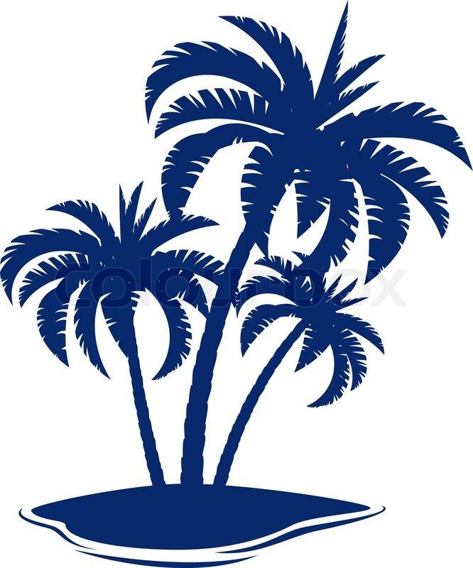 tropical island stock vector colourbox rh colourbox com island vector photoshop island victoria bank jamaica