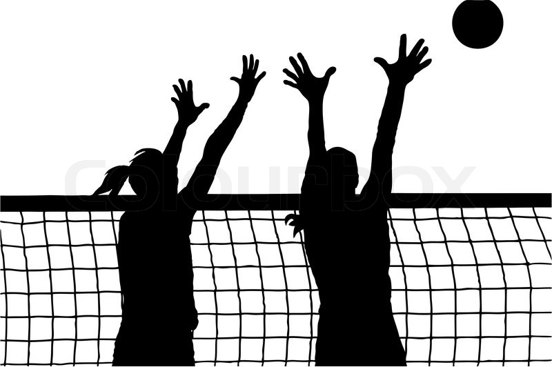 Vector image of volleyball women players   Vector   Colourbox