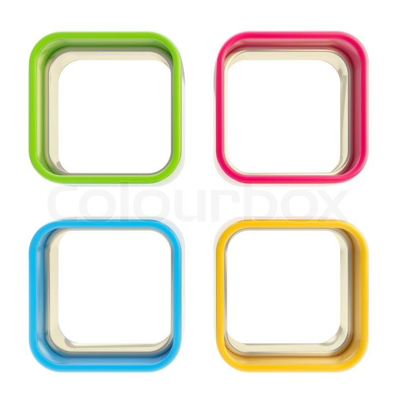 Four Applet Copyspace Colorful Boxes Stock Photo Colourbox