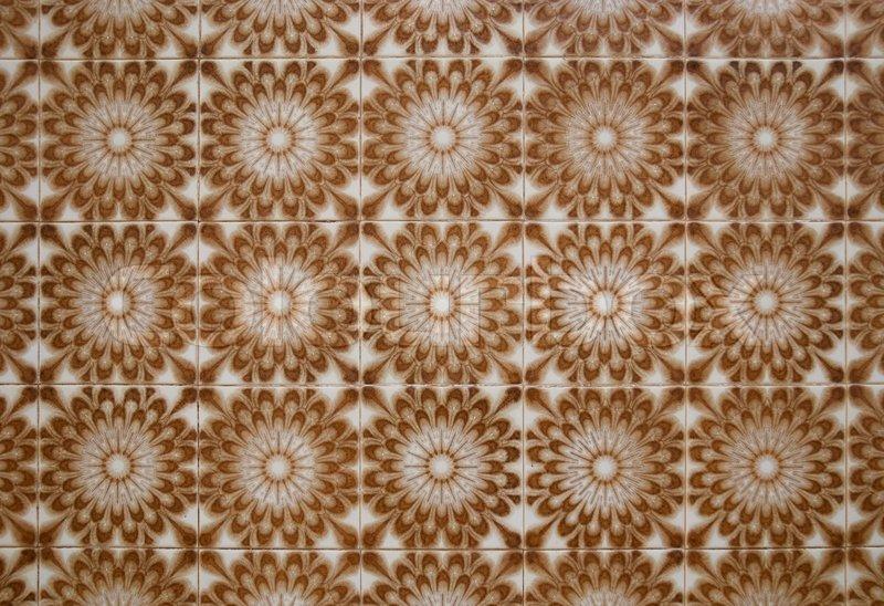 Vintage spanish style ceramic tiles stock photo colourbox for Spanish clay tile