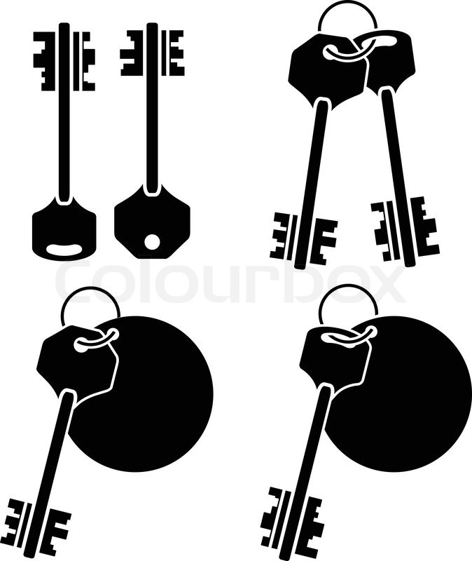 May The 4th Be With You Clip Art: Set Of Keys. Fourth Variant. Vector Illustration