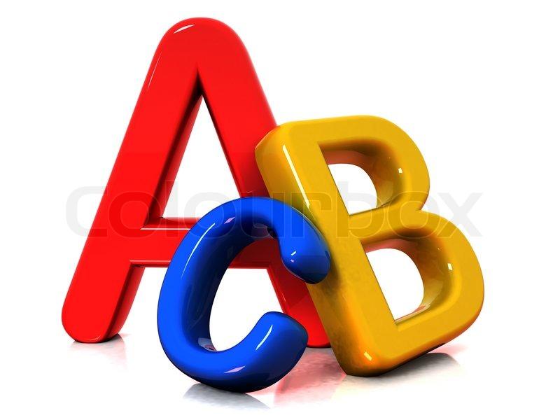 Colorful Abc Letters Stock Photo Colourbox