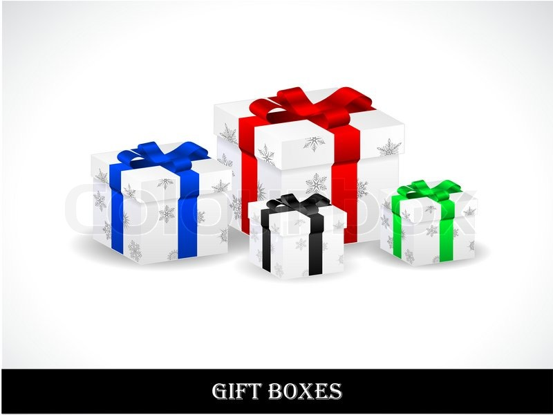 Beautiful gift boxes stock vector colourbox - How to make beautiful gift box ...