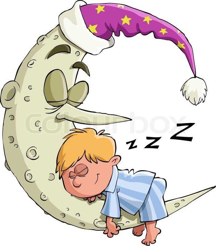 Schlafm 252 Tze Schlafen Karikatur Stock Vektor Colourbox