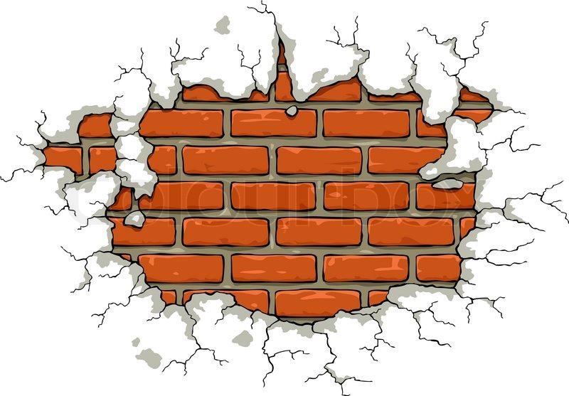 Broken Brick Wall Vector Free