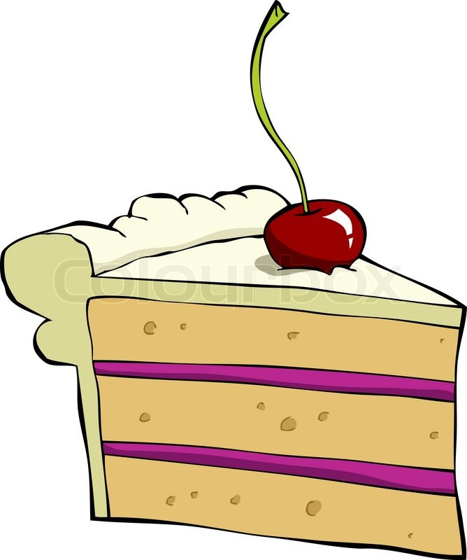 Cartoon cake | Stock Vector | Colourbox