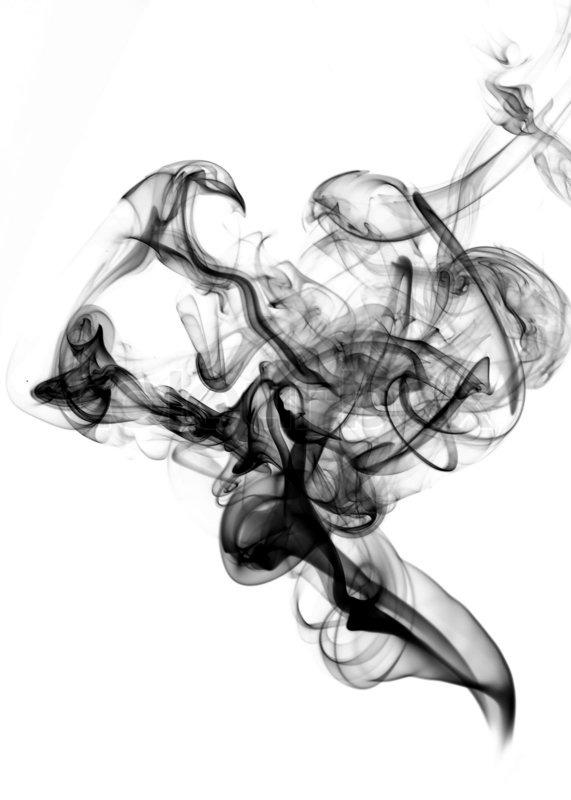 schwarzer rauch auf der wei223en stockfoto colourbox