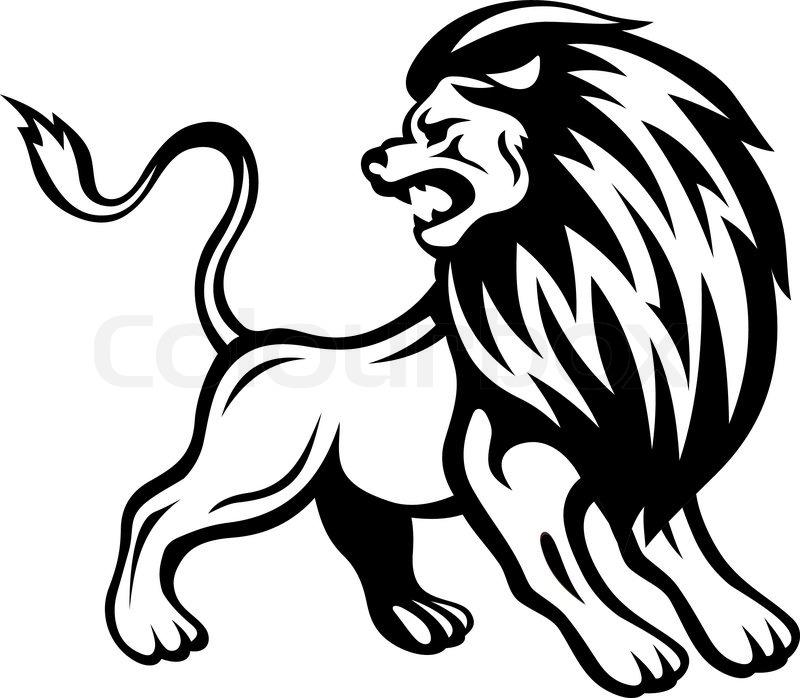 Stock vektor af løve tribal tatovering