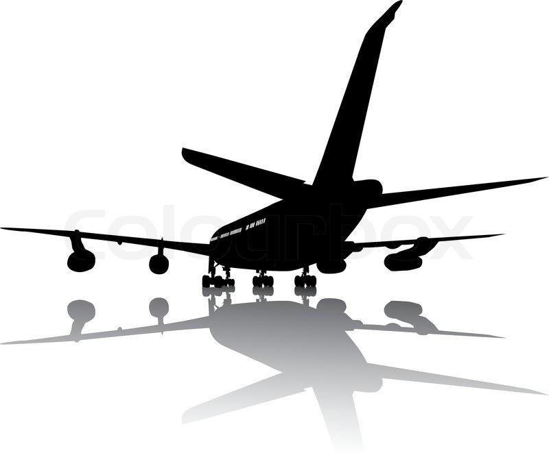 Aircraft Silhouette Stock Vector Colourbox