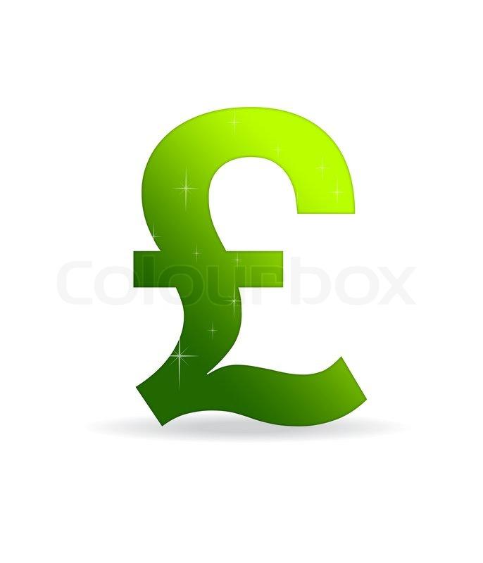 Green British Pound Sign Stock Photo Colourbox