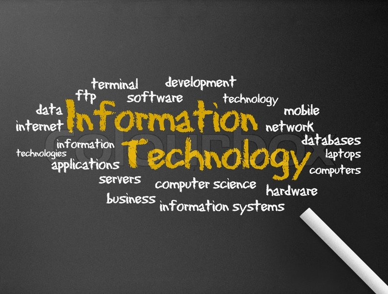 Stock image of 'Chalkboard - Information Technology'