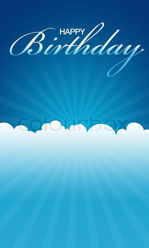 Happy Birthday Card Photo – Blue Birthday Cards