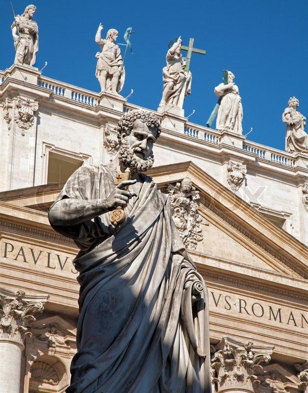 rom  st peter s statue für sbasilika von st peter