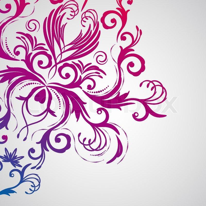 floral abstrakt mit orientalischen blumen vektorgrafik. Black Bedroom Furniture Sets. Home Design Ideas