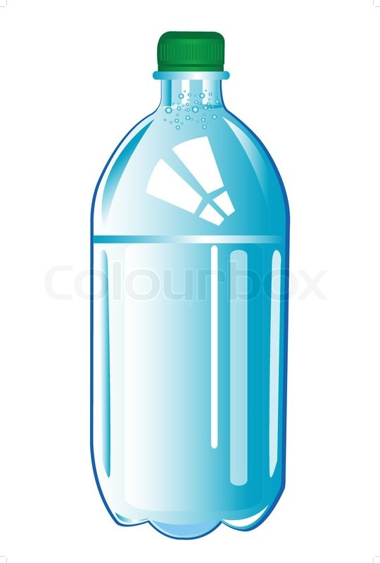 Plastic Bottle With Water Stock Vector Colourbox