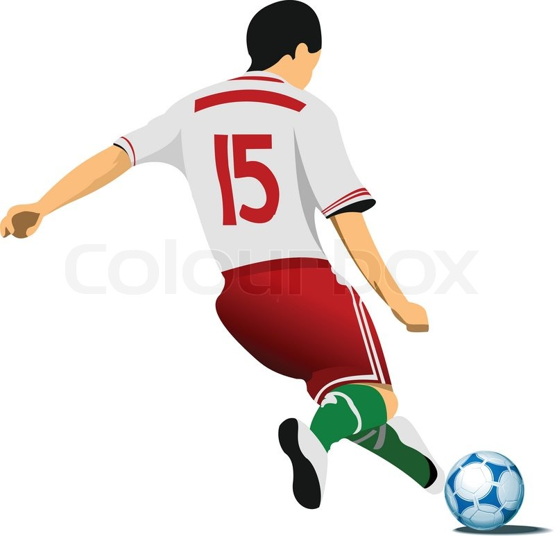 Football Player Stock Vector Colourbox