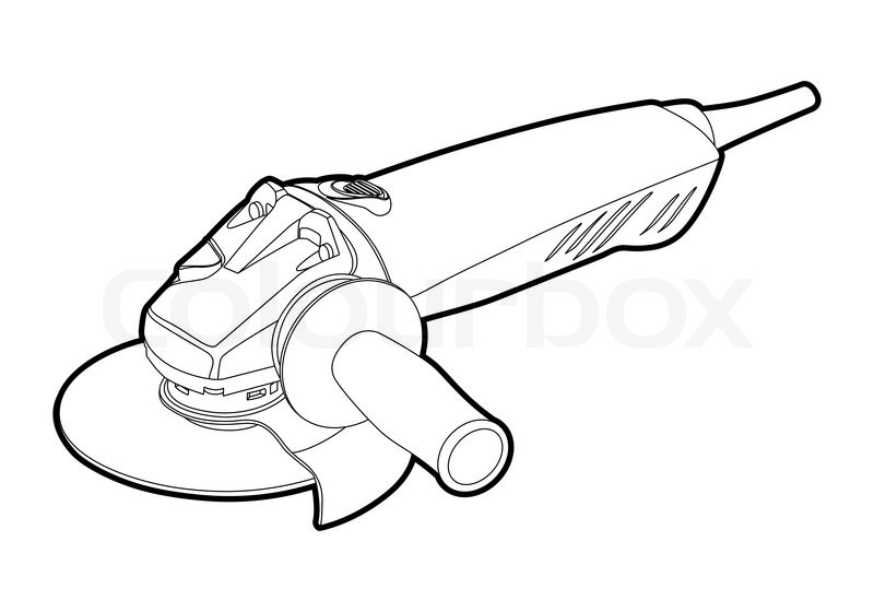 Angle Grinder Vector 4160935 on electrical one line drawings