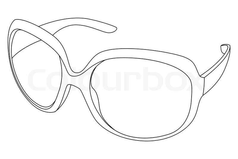Line Drawing Glasses : Sunglasses stock vector colourbox