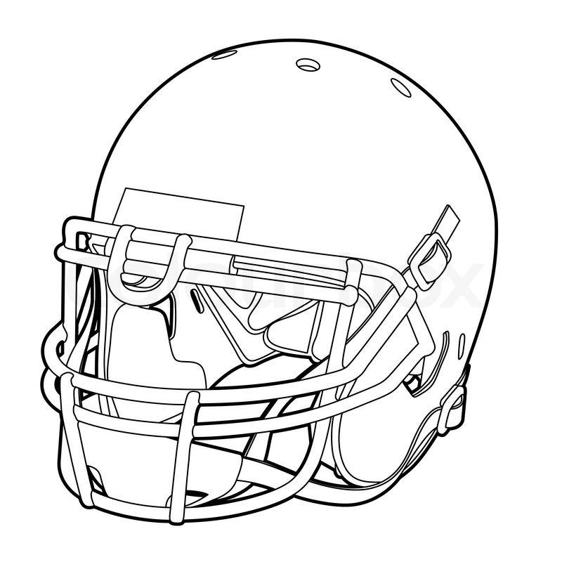 American Football Helmet Stock Vector Colourbox