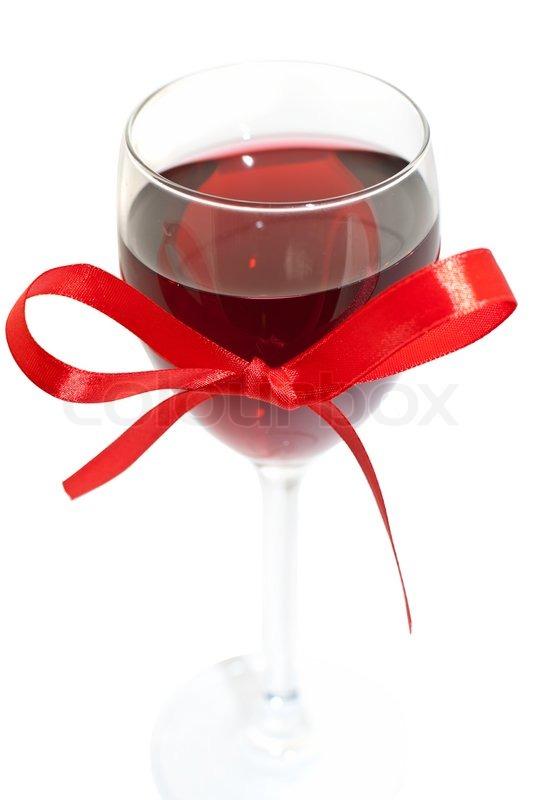 Custom Wine Glass Ribbon Wine Glass