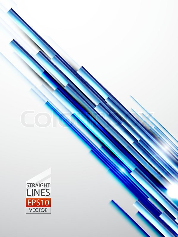 Straight Line Art Vector : Vector abstract background with blue straight lines