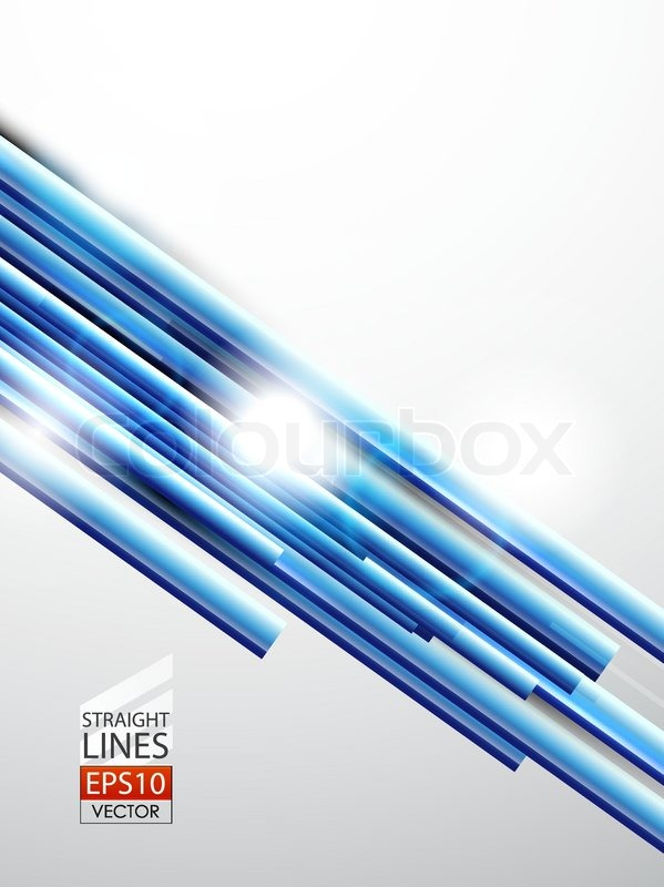 Straight Line Abstract Art : Vector abstract background with blue straight lines