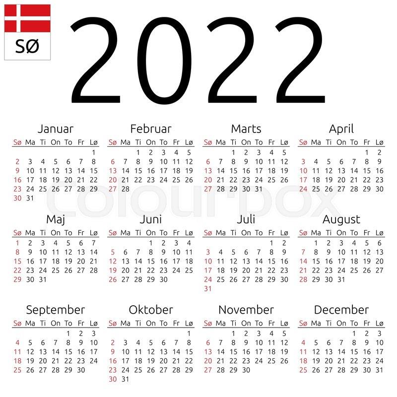 Cu Boulder Calendar 2022.Simple Annual 2022 Year Wall Calendar Stock Vector Colourbox