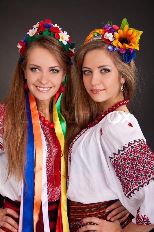 Young Women In Ukrainian Clothes Stock Photo Colourbox