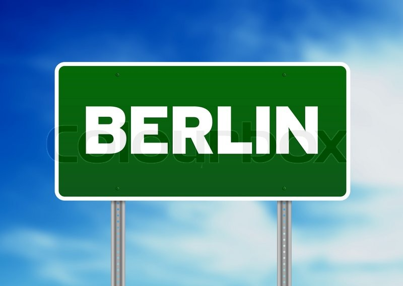 Berlin Road Sign Stock Photo Colourbox