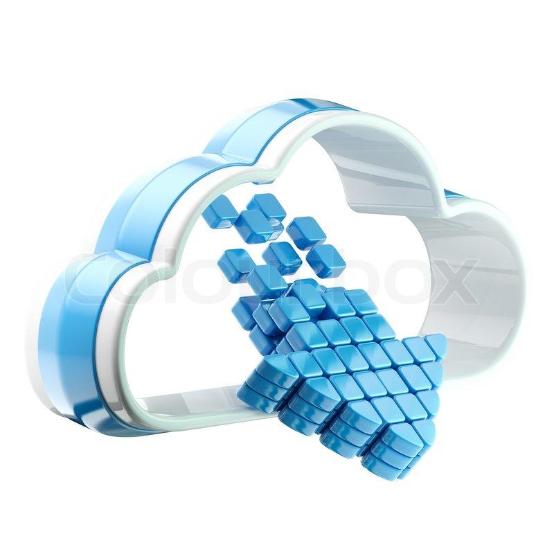 Cloud Computing Technology Icon Emblem Stock Photo