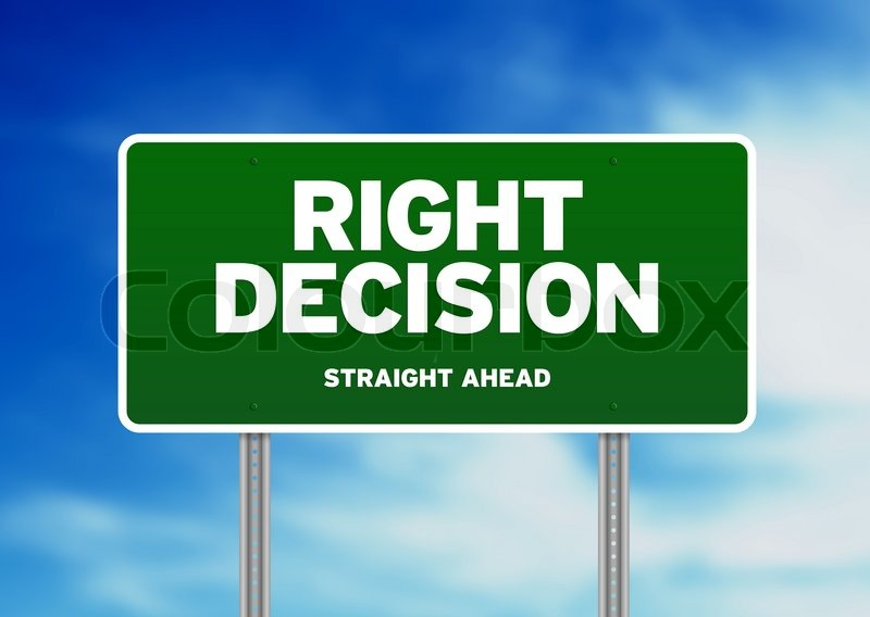 Decision making process on the road to sucess