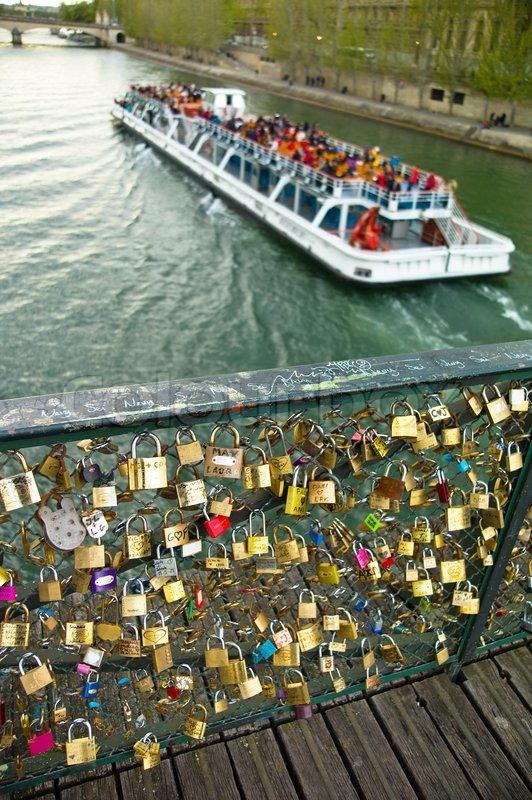 Paris France Symbols Of Love Stock Photo Colourbox