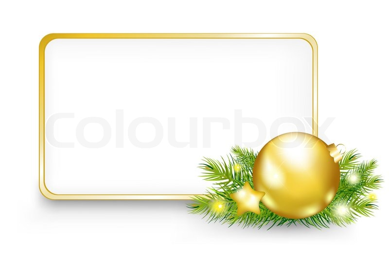 Christmas Or New Year Frame | Stock Photo | Colourbox