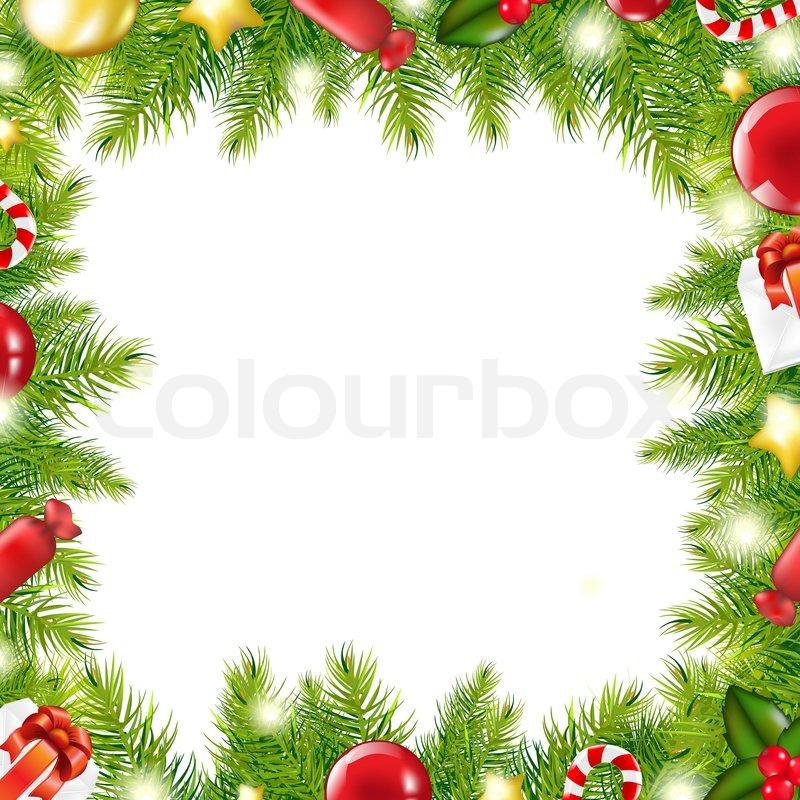 Christmas Tree Border Stock Photo Colourbox