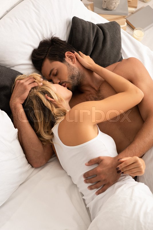 Tender Couple Hugging And Kissing In Stock Image Colourbox