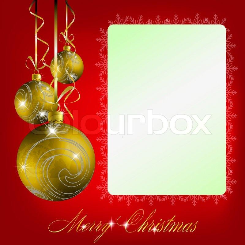 Red merry christmas postcard | Stock Photo | Colourbox
