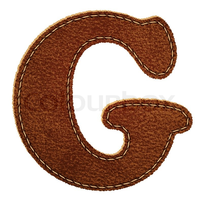 Leather Alphabet Leather Textured Letter G Stock Photo Colourbox