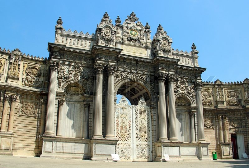 Dolmabahce Palace entrance (Gate of Sultan), Istanbul ...