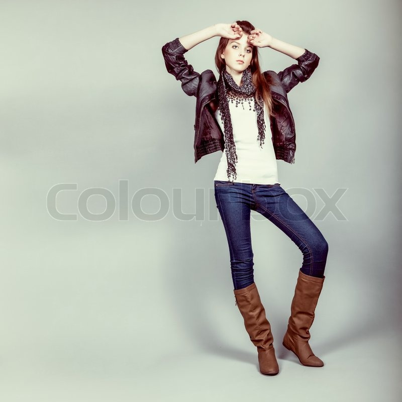 Teen Fashion Model Girl Stock Photo Colourbox