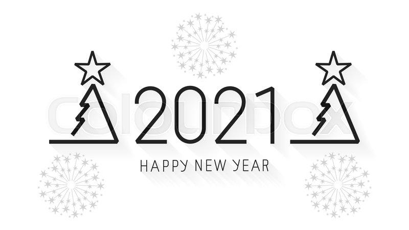 Happy New Year 2021 Design Vector Stock Vector Colourbox