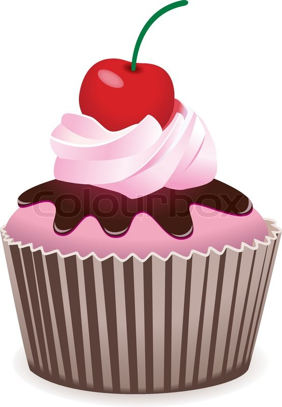 vector cupcake with cherry stock vector colourbox clip art of birthday cakes you can write on clip art of birthday cakes you can write on