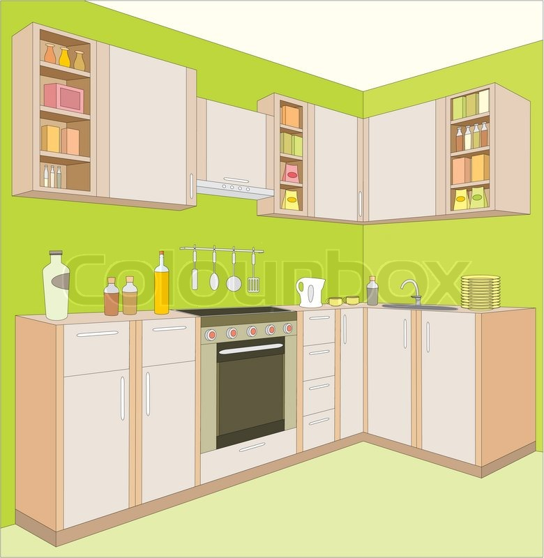 Cartoon Kitchen Furniture: Kitchen Furniture Interior
