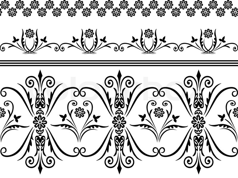 Stock Vector Of Webbing Lace Border Seamless Pattern With Swirling Decorative Floral Elements