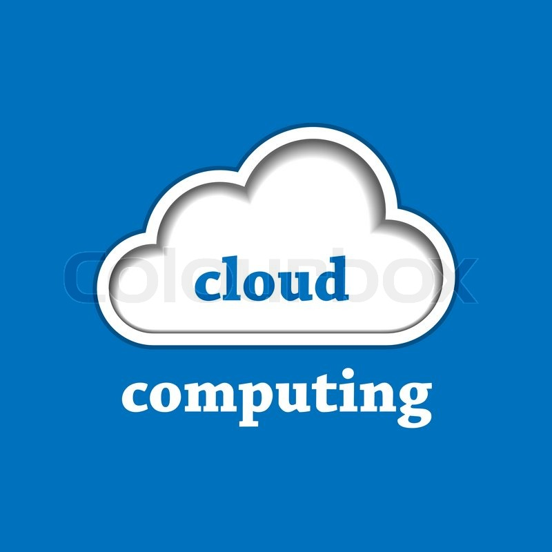 cloud computing logo template   stock vector   colourbox