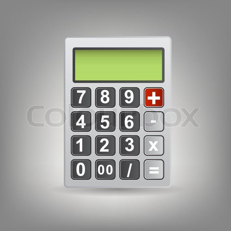 vector calculator icon with gray buttons stock vector colourbox