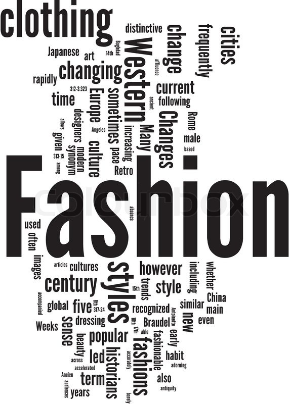 Fashion Word Cloud Stock Vector Colourbox