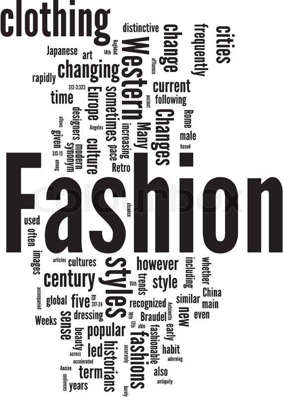 Fashion Word Cloud Stock Vector Colourbox