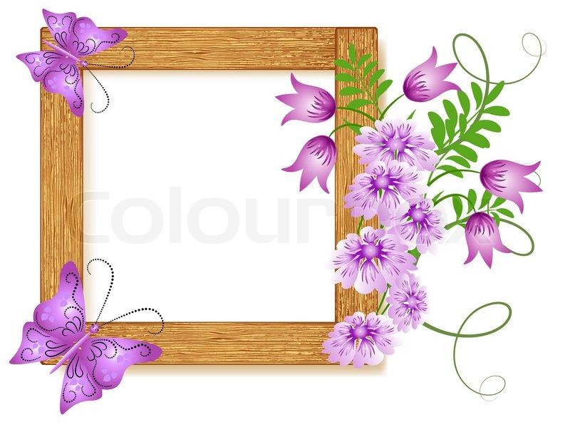 design wooden photo frames with flowers and butterfly. Black Bedroom Furniture Sets. Home Design Ideas